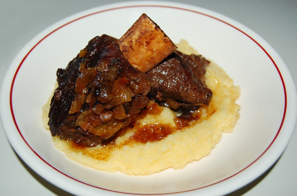Braised Short Ribs with Polenta
