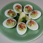Holy Guacamole Deviled Eggs