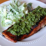 Pan Seared Pesto Salmon