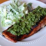 Pan Seared Pesto Salmon