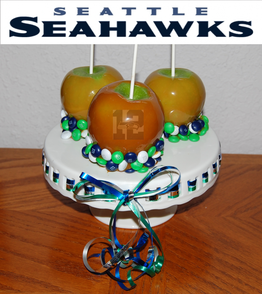 Seahawk Candy Caramel Apples