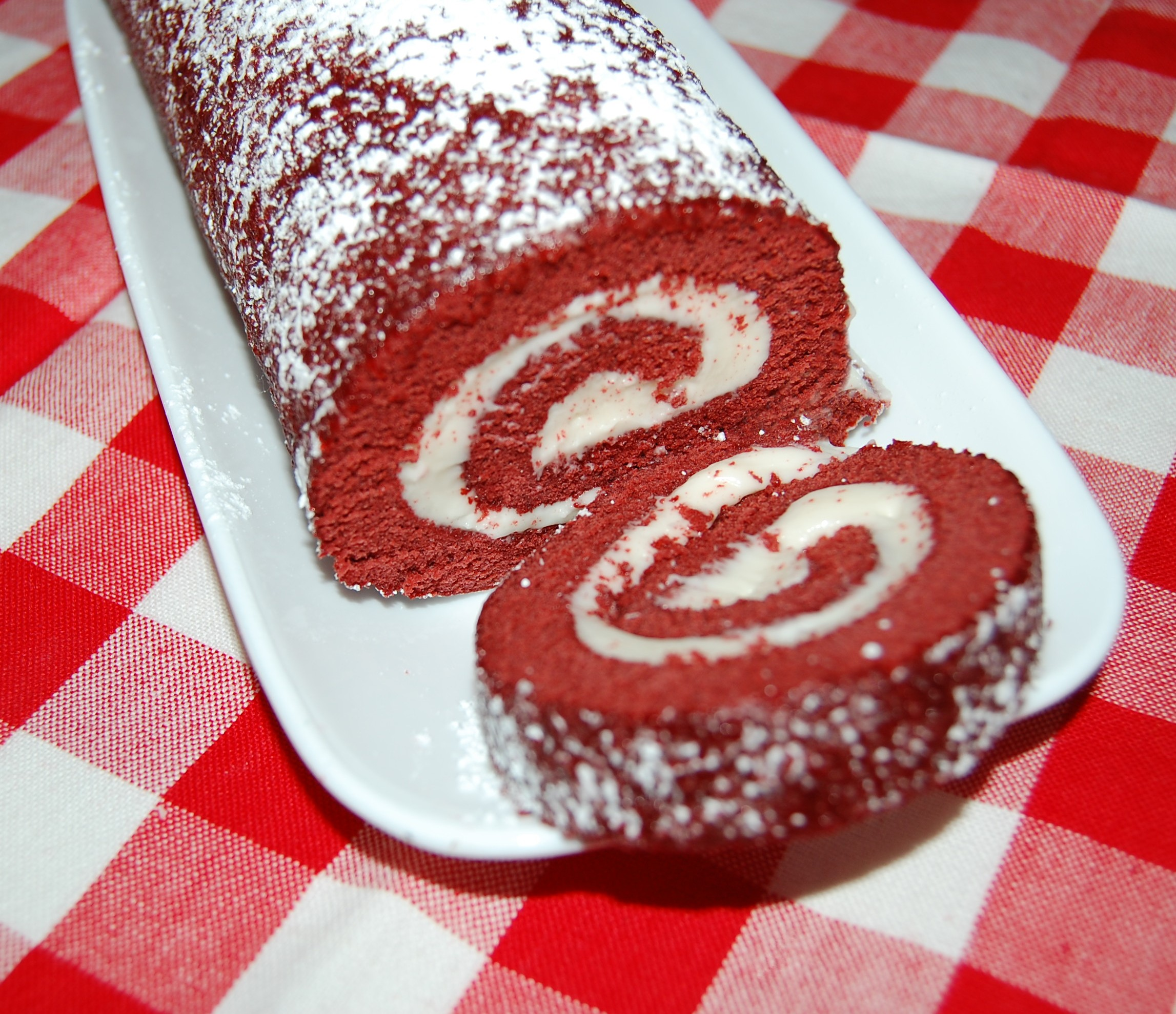 Red Velvet Cake Roll | Cooking Mamas