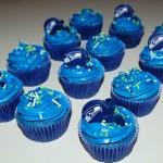 Seahawk Blue Raspberry Cupcakes
