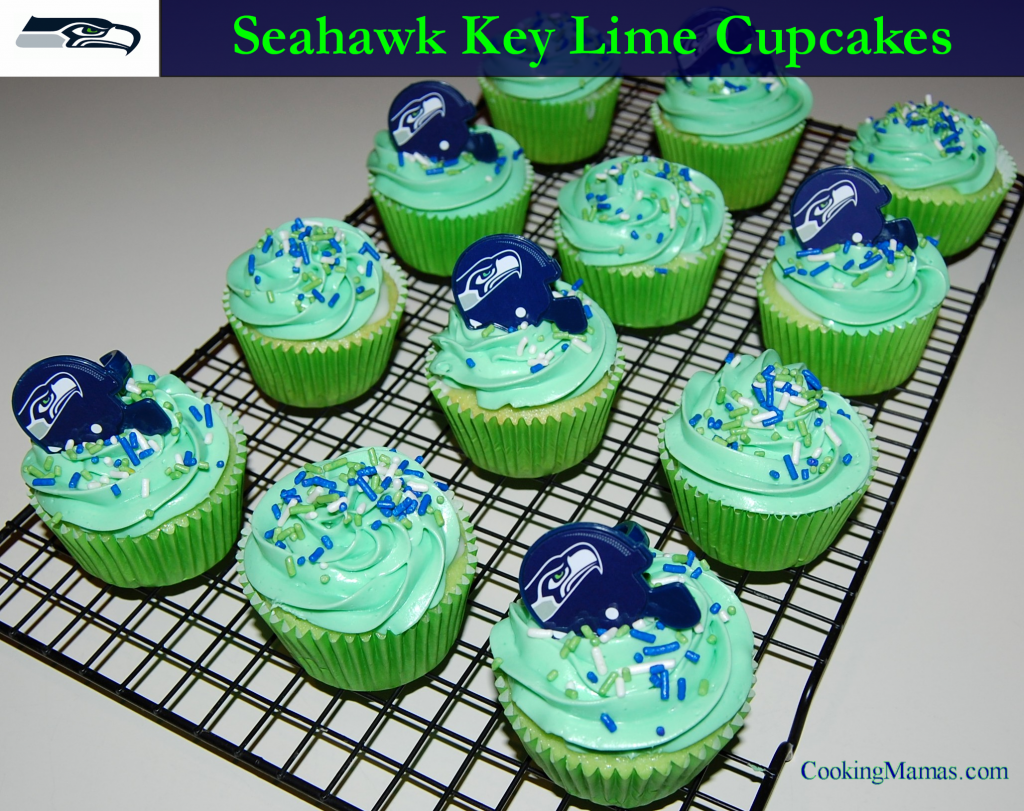 Seahawk Key Lime Cupcakes