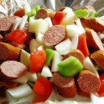Grilled Sausage Potato and Pepper Packet