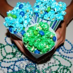 Seahawk Game Day Candied Popcorn