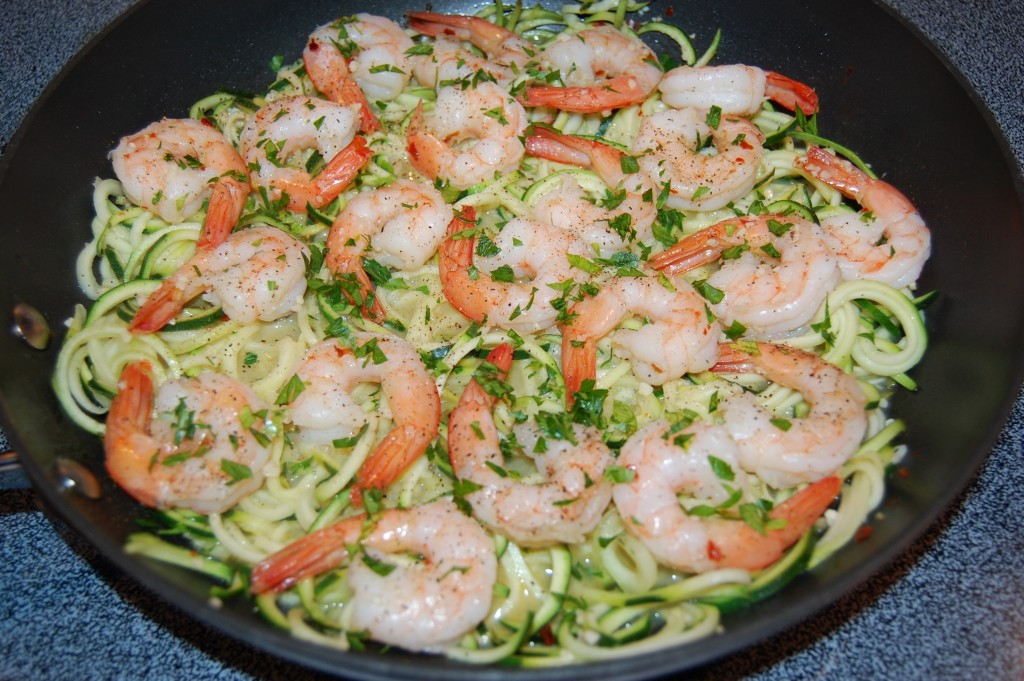 Skinny Shrimp Scampi with Zucchini Noodles   Cooking Mamas