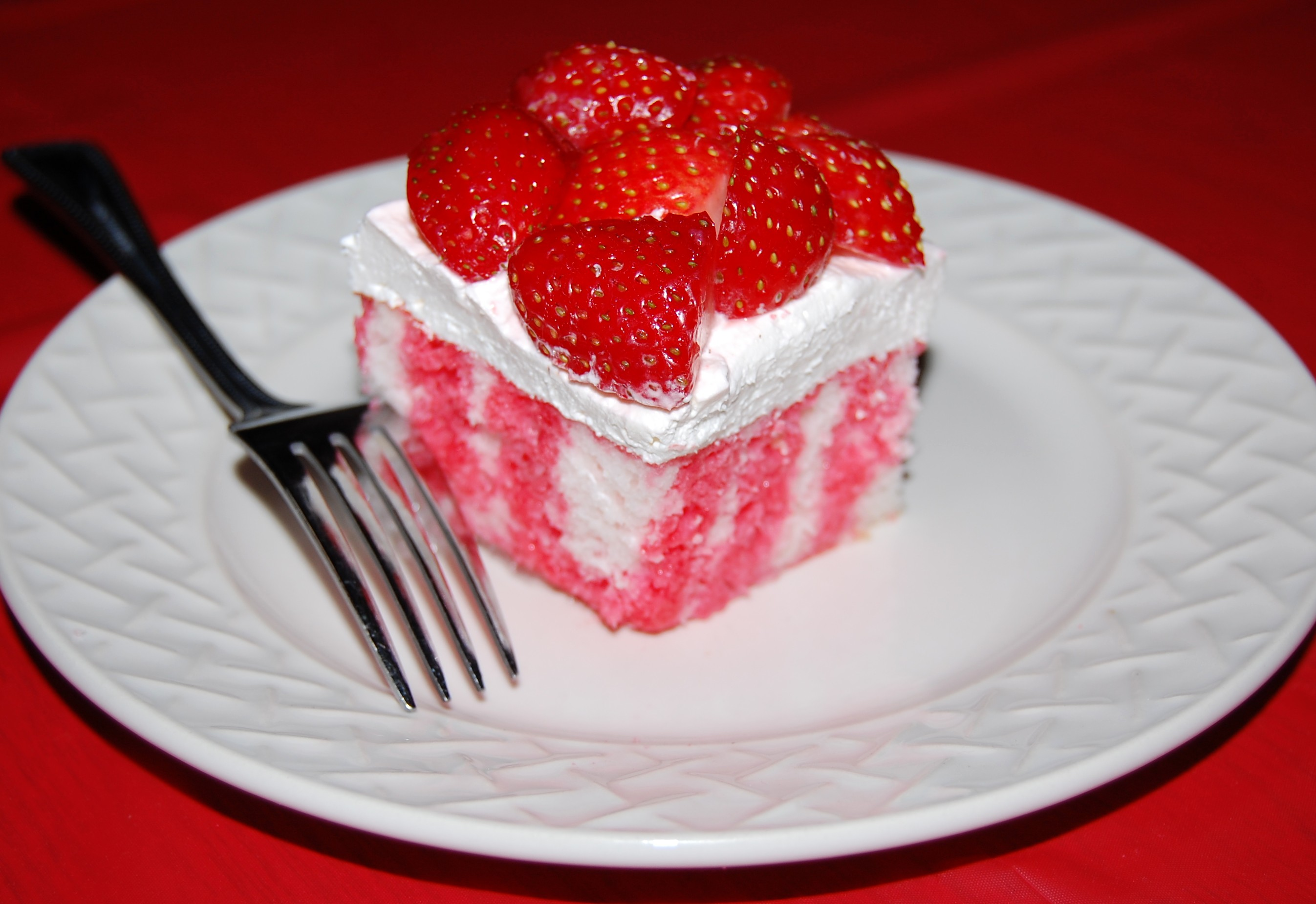 Mexican Jello Cake Recipe: Strawberry Jello Poke Cake