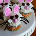 Dust-Bunny Easter Cupcakes