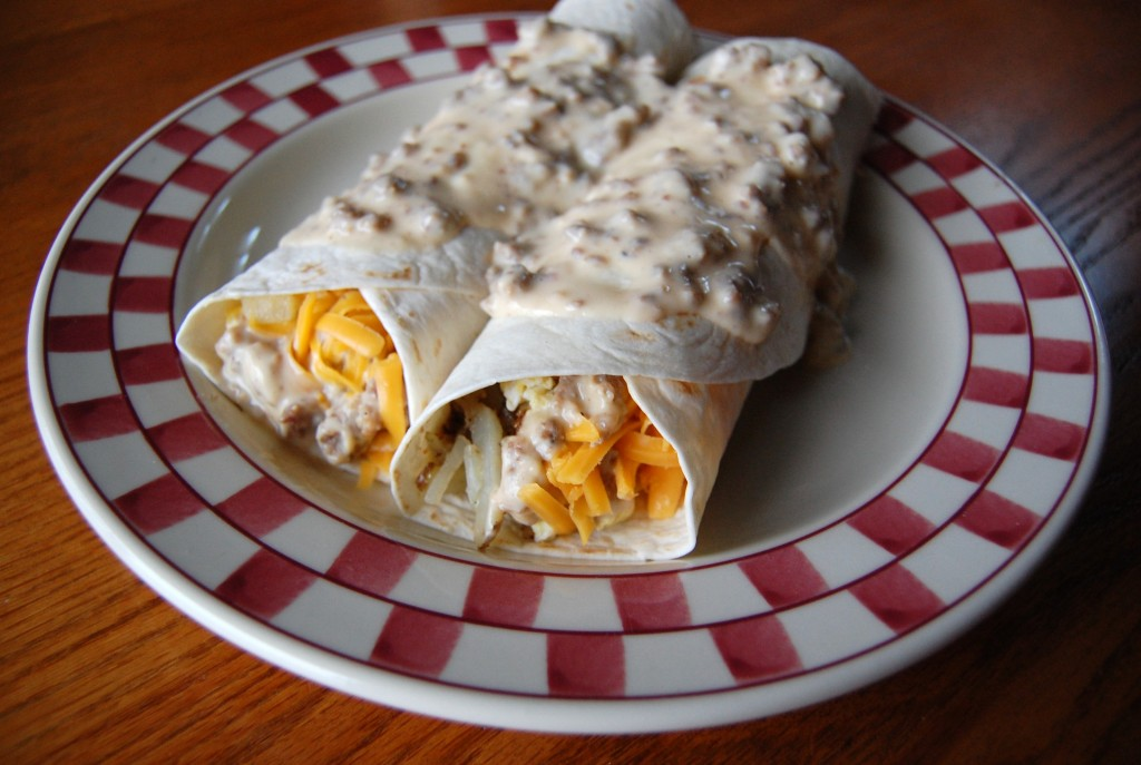 Ultimate Breakfast Burritos With Sausage Gravy