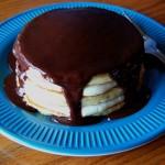 Boston Cream Pie Pancakes