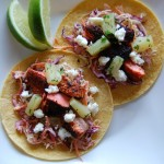 Blackened Salmon Tacos with Cilantro-Lime Coleslaw and Pineapple Salsa