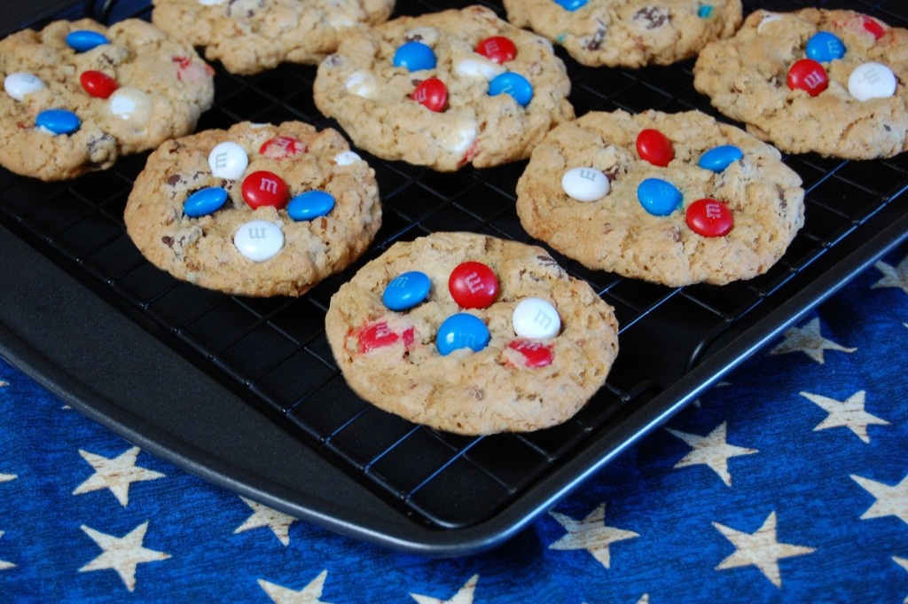 Red White Blue Cowboy Cookies