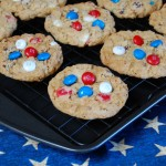 Red White & Blue Cowboy Cookies