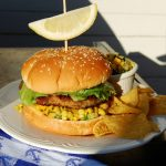 Dungeness Crab Burgers with Mango Salsa