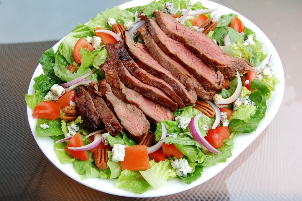 Marinated Flank Steak and Bleu Cheese Chop Salad