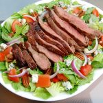 Marinated Flank Steak with Bleu Cheese Chop Salad