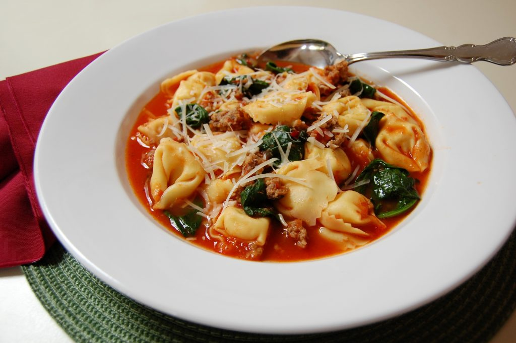 Italian Cheese Tortellini and Sausage Soup