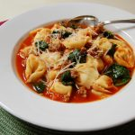 Tuscan Cheese Tortellini and Sausage Soup