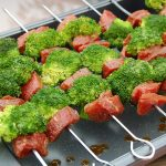 Marinated Beef and Broccoli Kebabs