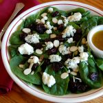 Cherry Almond Salad with White Balsamic Dressing