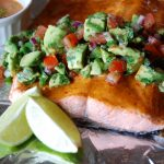 Chipotle Lime Salmon Topped with Avocado Salsa