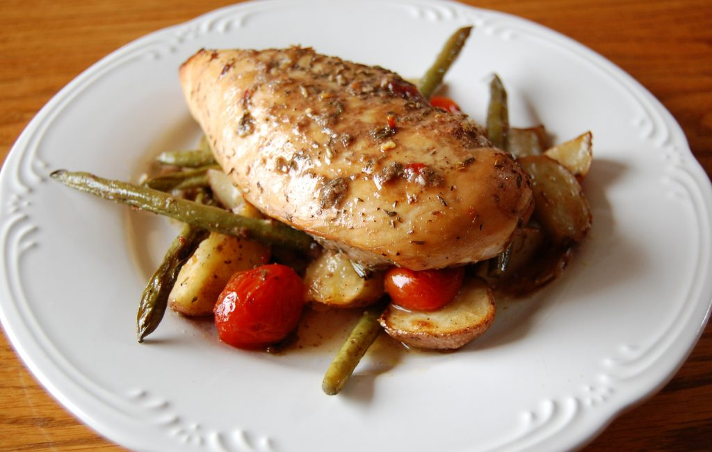 Honey Balsamic Chicken with Veggies