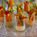 Veggie Cups with Homemade Dip