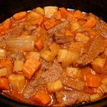Slow Cooker Cider Braised Pot Roast with Root Veggies