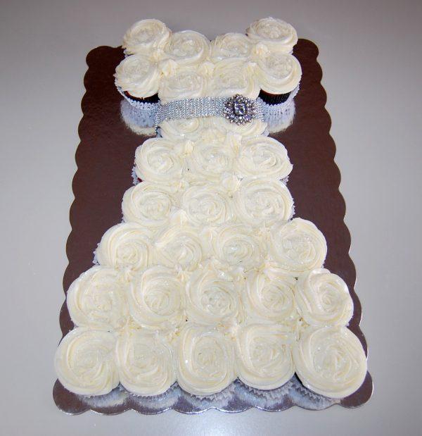 Wedding Dress Cupcake Cake | Cooking Mamas