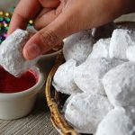 Beignets with Raspberry Dipping Sauce