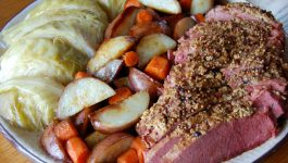 Oven Roasted Corned Beef and Cabbage