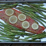 Sheet Pan Lemon Pepper Salmon with Parmesan Asparagus