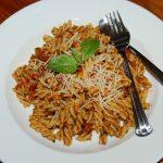 Pasta with Sun Dried Tomato Pesto