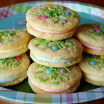 Spring Cake Mix Sandwich Cookies