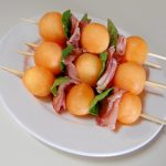 Melon Mint and Prosciutto Kebabs