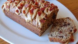 Elvis Peanut Butter Banana Bread with Bacon