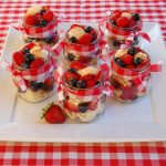 Red White & Blue Berry Shortcake in a Jar