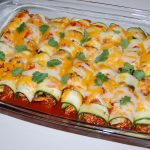 Zucchini Chicken Enchiladas