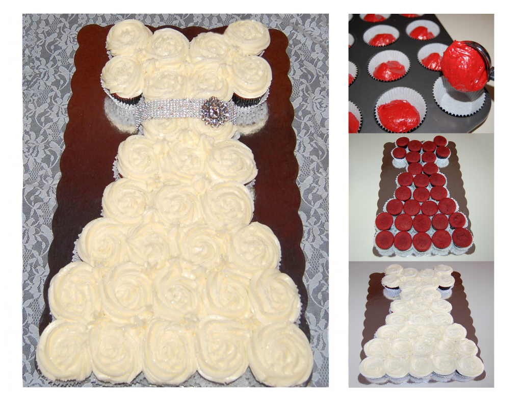 Wedding Dress Cupcake Cake Cooking Mamas