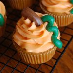 Pumpkin Spice Cupcakes with Orange Cream Frosting