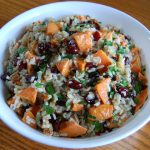 Roasted Sweet Potato and Rice Salad