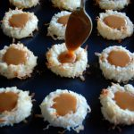 Salted Caramel Coconut Thumbprint Cookies