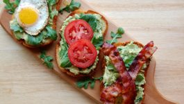 BLT Avocado Toast with Egg