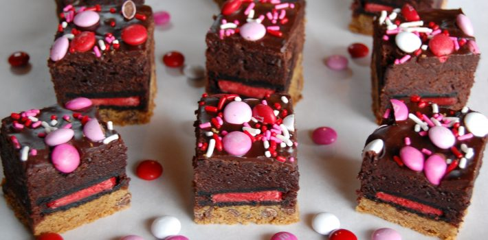 Outrageous Valentine Brownies