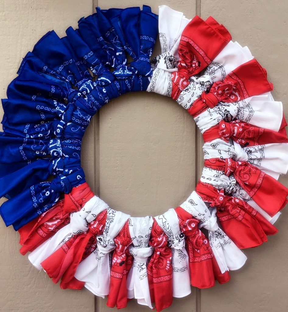 Well known Red White and Blue Bandana Wreath | Cooking Mamas EZ25