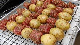 Rosemary Steak and Potato Kebabs