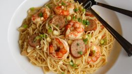 Shrimp Boil Spaghetti