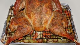 Savory Herb Spatchcock Turkey with Roasted Vegetables