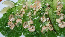 Cilantro Lime Shrimp Wraps